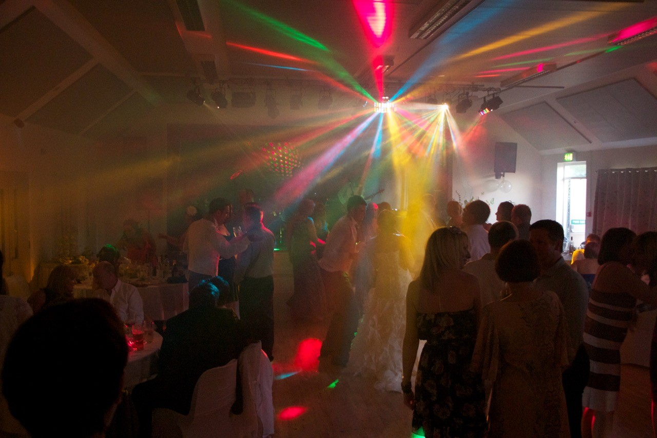 A disco in full swing with our own special lighting effects!!